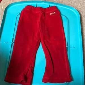 Red sweat pants